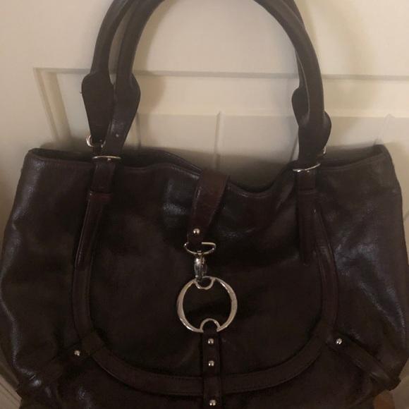 Dkny Handbags - DKNY dark brown (satchel) purse.